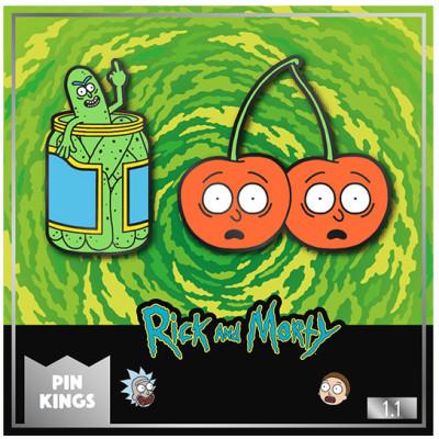 Набор значков Numskull Rick & Morty - Pin Kings - Pickle Rick & Cherry Morty (2 шт)