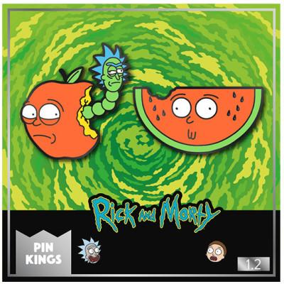 Набор значков Numskull Rick & Morty - Pin Kings - Apple Morty & Watermelon Morty (2 шт)