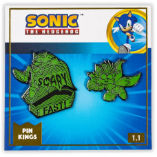 Набор значков Sonic the Hedgehog - Pin Kings - Halloween Sonic & Tails (Glow in the Dark) (2 шт)