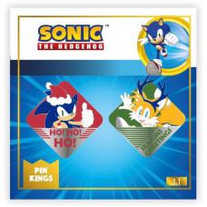Набор значков Sonic the Hedgehog - Pin Kings - Modern Christmas (2 шт)