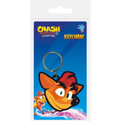 Брелок Pyramid Crash Bandicoot 4 - Crash Face RK39217C (4.5 см)
