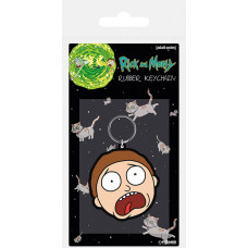 Брелок Rick & Morty - Morty Terrified Face (4.5 см)