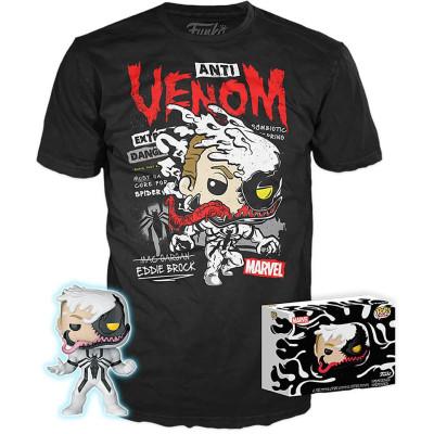 Набор Funko Marvel Comics - POP! Tees - Anti-Venom (Glows in the Dark) (фигурка/ футболка) UT-56934