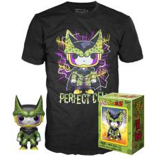 Набор Dragon Ball Z - POP! Tees - Perfect Cell (фигурка / футболка)