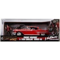 Набор A Nightmare On Elm Street - Hollywood Rides - Freddy Krueger & 1958 Cadillac Series 62 (7 см, 1:24)