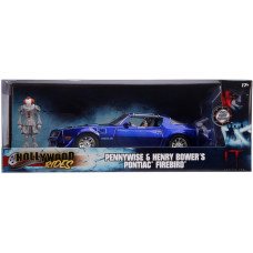 Набор IT: Chapter Two - Hollywood Rides - Pennywise & Henry Bower's Pontiac Firebird (7 см, 1:24)
