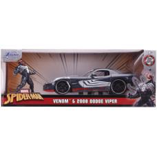 Набор Spider-Man - Hollywood Rides - Venom & 2008 Dodge Viper (7 см, 1:24)