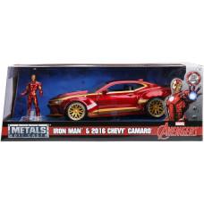 Набор Avengers - Hollywood Rides - Iron Man & 016 Chevy Camaro (7 см, 1:24)