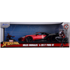 Набор Spider-Man - Hollywood Rides - Miles Morales & 2017 Ford GT (4 см, 1:24)
