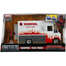 Набор Deadpool - Hollywood Rides - Deadpool & Taco Truck (7 см, 1:24)