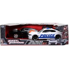 Набор моделей автомашин Fast & Furious - Dom's Dodge Charger R/T & Dom's  Charger SRT Hellcat (Remote Control) (1:16)