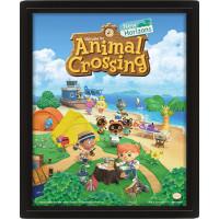 Линзовидный 3D постер Animal Crossing - New Horizons (20x25 см)