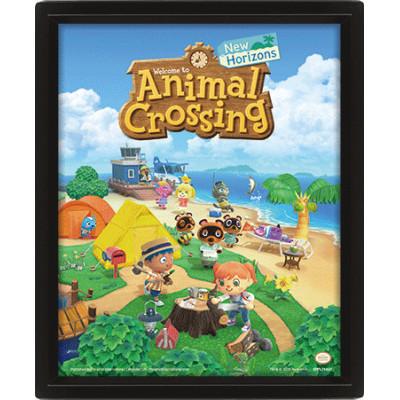 Постер Pyramid Линзовидный 3D Animal Crossing - New Horizons EPPL71437 (20x25 см)