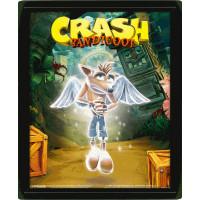 Линзовидный 3D постер Crash Bandicoot - Game Over (20x25 см)