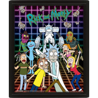 Линзовидный 3D постер Rick & Morty - Characters Grid (20x25 см)