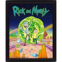 Линзовидный 3D постер Rick & Morty - Portal (20x25 см)