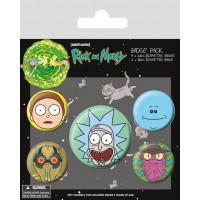 Набор значков Rick & Morty - Heads (5 шт)