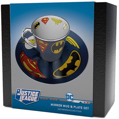 Подарочный набор Gb Eye Justice League - Emblems of DC Comics Greatest Heroes (чашка / блюдце)