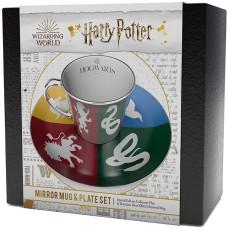 Подарочный набор Harry Potter - Crests Houses of Hogwarts (чашка / блюдце)