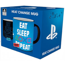 Кружка PlayStation - Eat Sleep Repeat (Heat Change) (320 мл)