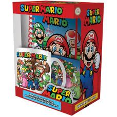 Подарочный набор Super Mario - Evergreen (блокнот / кружка / подставка под напитки / брелок)
