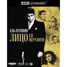 Лицо со шрамом (1983) (Юбилейное издание) (+Blu-ray доп.мат/карточки) [4K UHD Blu-ray]
