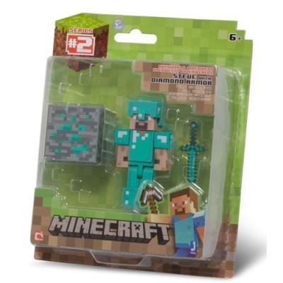 "Набор фигурок Minecraft: Игровой мир ""Steve with Diamond Armor"""