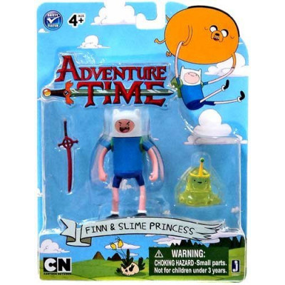 Набор фигурок Jazwares Adventure Time: Finn with Slime princes 2 в 1 (6 см)