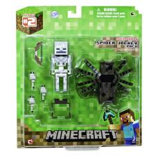 """Набор фигурок Minecraft: Игровой мир """"Spider Jockey Pack 3"""" (8 см)"""