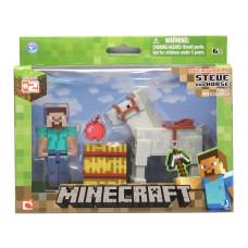 "Набор фигурок Minecraft: Игровой мир ""Steve With White Horse 3"" (8 см)"
