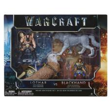 Набор фигурок Warcraft из четырех персонажей Лотар/Чернорук/Грифон/Волк (4 шт., 7 см)