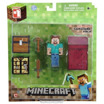 "Набор фигурок Minecraft: Игровой мир ""Core Player Survival Pack"" (6 см)"