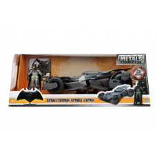 Набор фигурок Batman v Superman: Dawn of Justice - Metalfigs - Batmobile 2016 и Batman 1:24 (7 см)
