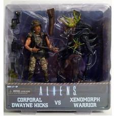 Набор фигурок Aliens - Series 7 - Corporal Dwayne Hicks vs Xenomorph Warrior (18 см)
