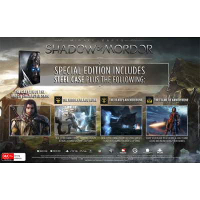 Игра Warner Bros Middle Earth: Shadow Of Mordor. Special Edition [PS4, Xbox One, PC, европейская версия]
