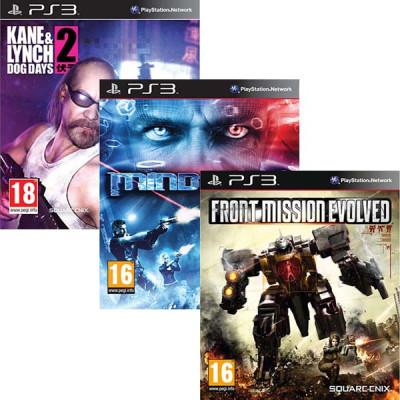Комплект из 3-х игр PS3: KANE & LYNCH 2: Dog Days [PS3, русская документация] + MINDJACK [PS3, английская версия]  + Front Mission Evolved [PS3, английская версия]