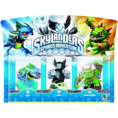 Набор интерактивных фигурок Skylanders Spyro's Adventure (Hex, Zap, Dino-rang) [PC, PS3, Xbox 360, 3DS, Wii]