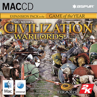 Sid Meier's Civilization 4: Warlords (версия для MAC) [PC, Jewel, английская версия]