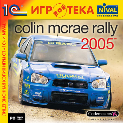 Colin McRae Rally 2005 (1С:Нивал ИГРОТЕКА, DVD) [PC, Jewel, русская версия]