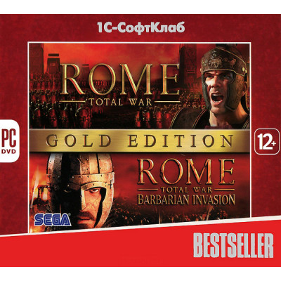 Rome: Total War. Gold Edition (Bestseller) [PC, Jewel, русская версия]