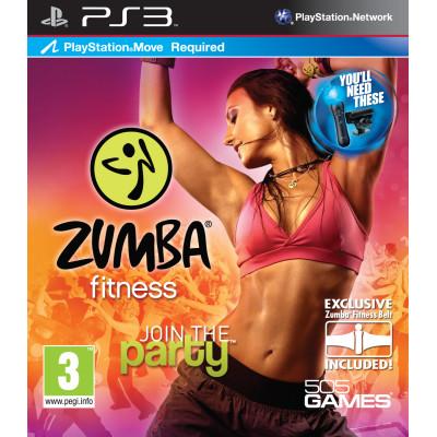 Zumba Fitness (игра + спортивная повязка) (только для PS Move) [PS3, английская версия]
