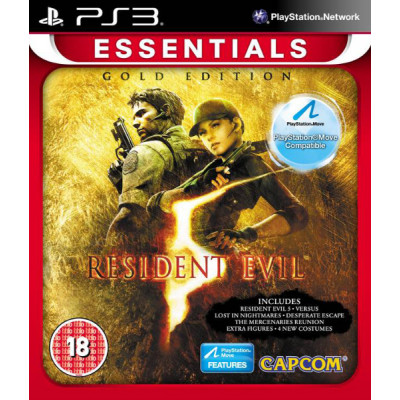 Resident Evil 5 Gold (с поддержкой PS Move) (Essentials) [PS3, русская документация]