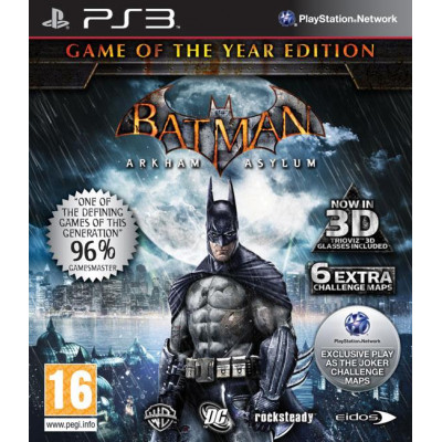 Batman: Arkham Asylum. Game of the Year [PS3, русская документация]