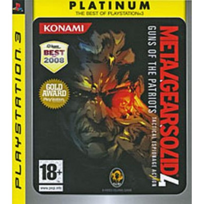 Metal Gear Solid 4: Guns of the Patriots (Platinum) [PS3, английская версия]
