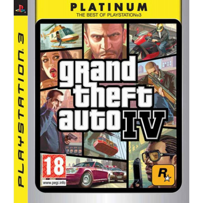 Grand Theft Auto IV (Platinum)  [PS3, английская версия]