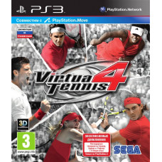 Virtua Tennis 4 (с поддержкой PS Move, 3D) [PS3, русская документация]