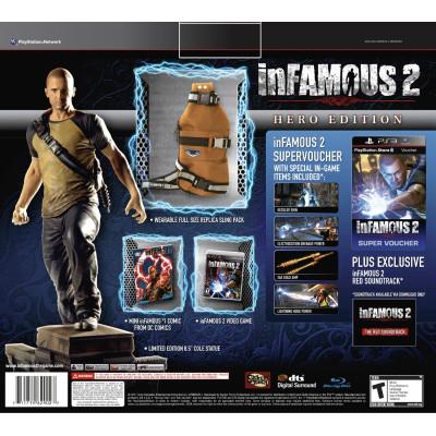 Игра для PlayStation 3 inFAMOUS 2. Hero Edition (американское издание)