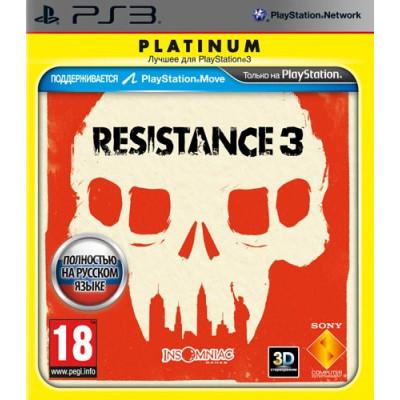 Resistance 3 (Platinum) (с поддержкой PS Move) [PS3, русская версия]