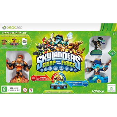 Стартовый набор Skylanders: Swap Force (игровой портал, игра, 3 фигурки - Blaste Zone, Wash Buckler, Ninja Stealth Elf) [Xbox 360, русская версия]
