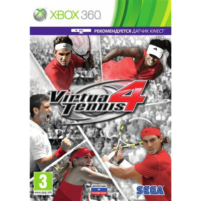 Virtua Tennis 4 (с поддержкой MS Kinect) [Xbox 360, русская документация]